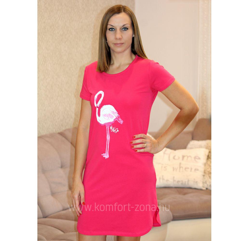 Hálóing   KO-GO Pink Flamingós Női Hálóing - Komfort-Zóna ... 3a27807994