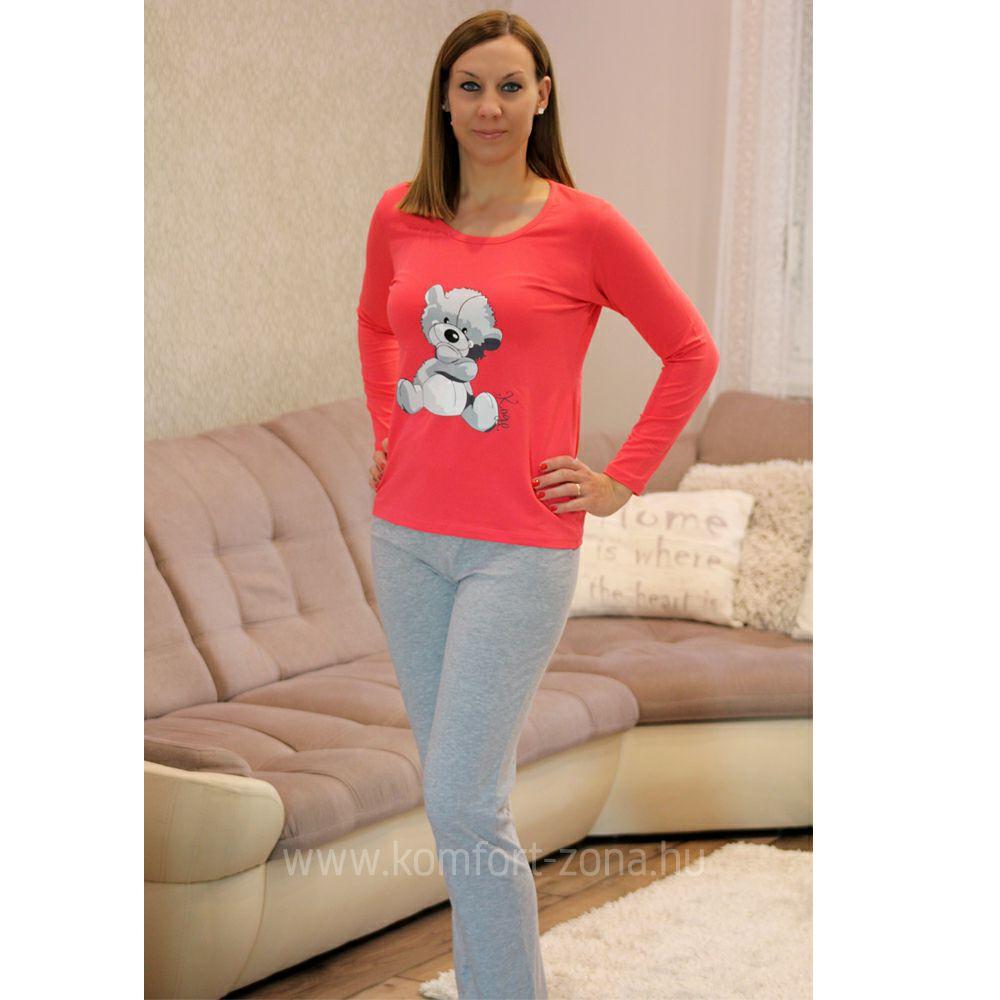 Pizsama   KO-GO Pink Macis Női Hosszú Pizsama - Komfort-Zóna ... b756cf9f7f