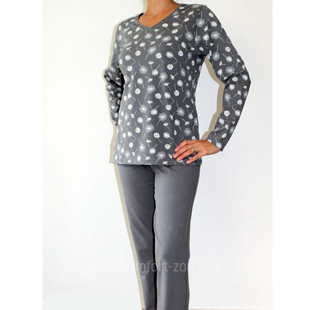 KO-GO női pitypang mintás hosszú pizsama