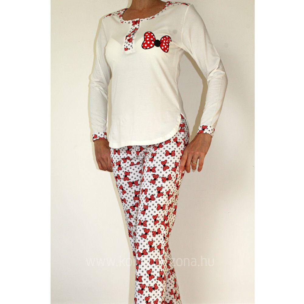KO-GO női masnis hosszú pizsama