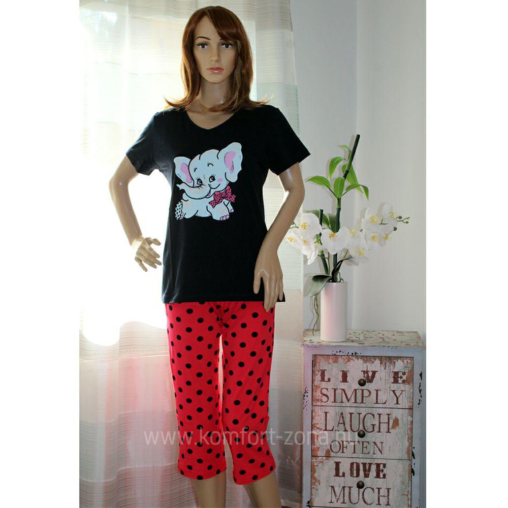 KO-GO Halásznadrágos Elefántos Női Pizsama (pink)