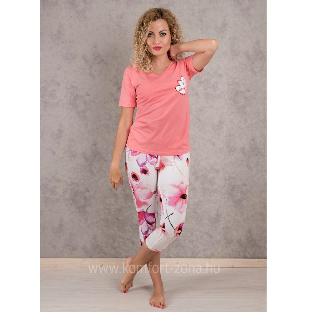 KO-GO Női Virágmintás Halász Pizsama