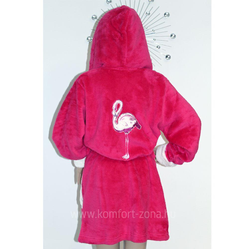 KO-GO Női Flamingós pink köntös